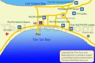 Phi Phi Casita Resort – Map